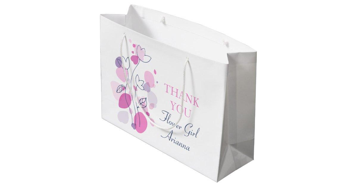 Zazzle Wedding Gift Bags : Confetti wedding flower girl favor large gift bag Zazzle