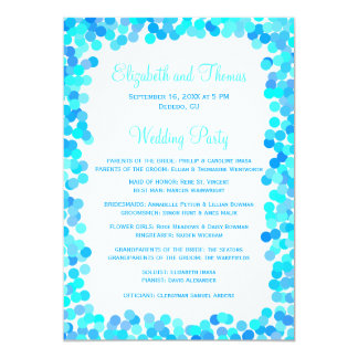 Confetti Wedding Programs Card