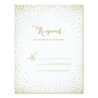 Confetti | Wedding Response Card