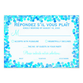 Confetti Wedding Response Cards