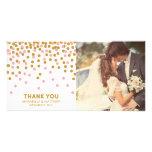 Confetti Wedding Thank You Photo Card
