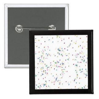 Confetti White Background Pinback Button
