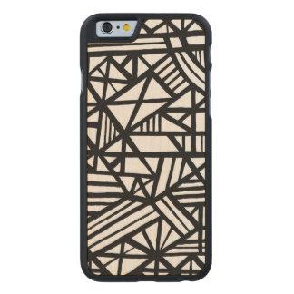 Confiable autodisciplinado de la sonrisa favorable funda de iPhone 6 carved® slim de arce