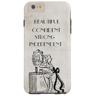 Confiado hermoso fuerte retro del espejo de la funda para iPhone 6 plus tough