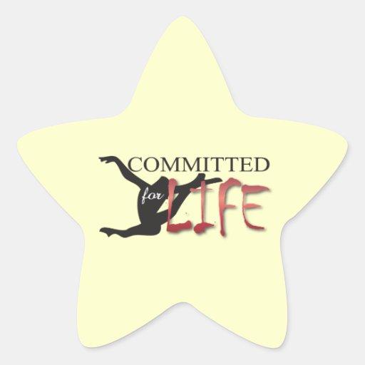 Confiado para el gimnasta o el bailarín de la vida pegatina en forma de estrella