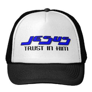 Confianza de Jesús en él Gorras De Camionero