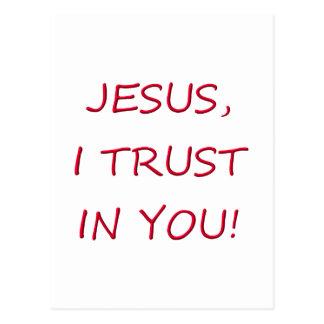 Confianza de Jesús I en usted Postal
