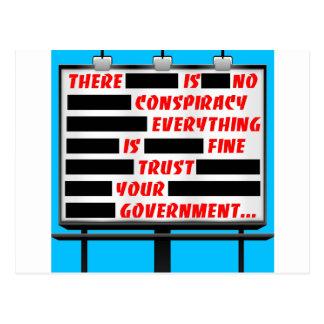 Confianza de la cartelera su gobierno postales
