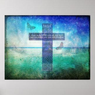 Confianza del 3:5 de los proverbios en el señor co póster