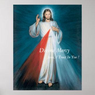¡Confianza divina de Jesús I de la misericordia en Póster