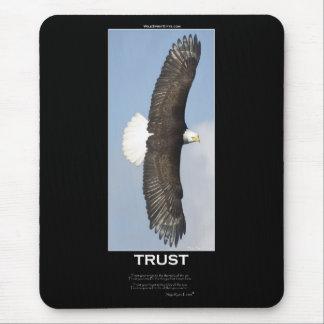 CONFIANZA Eagle calvo de motivación Tapete De Raton