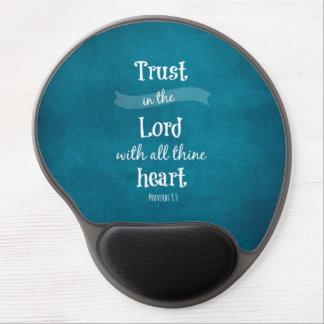 Confianza en el señor Bible Verse Alfombrillas De Ratón Con Gel
