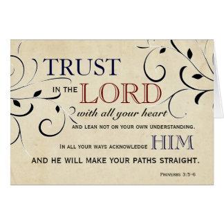 Confianza en el señor Encouragement Card Tarjeta De Felicitación
