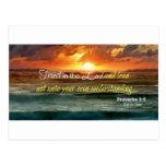 Confianza en el señor Inspirational Tarjetas Postales