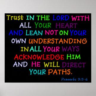Confianza en el señor Poster Bible Church Verse