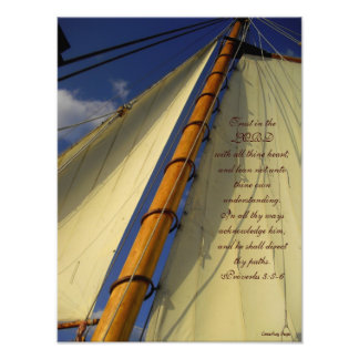 Confianza en el señor Ship Sails Print Fotos