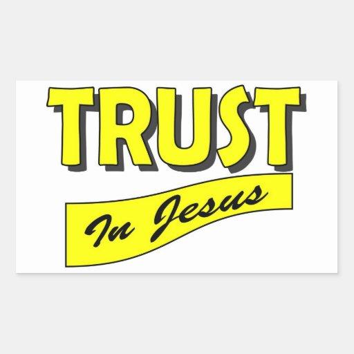 Confianza en Jesús Pegatina Rectangular