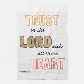 confianza en la escritura de los proverbios del toalla