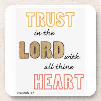 confianza en la escritura de los proverbios del posavasos