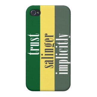 """Confianza J.D. Salinger implícito "" iPhone 4 Protector"