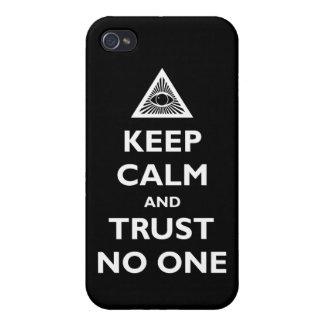 Confianza nadie iPhone 4 fundas
