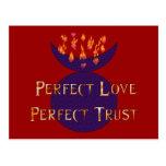Confianza perfecta del amor perfecto tarjeta postal