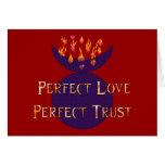 Confianza perfecta del amor perfecto tarjetón