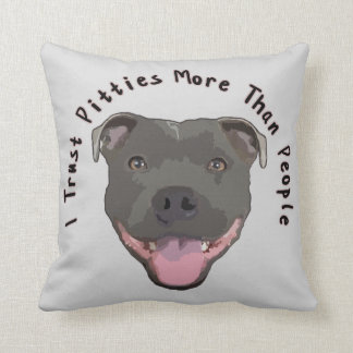 Confianza Pitties - almohada de Pitbull Cojín Decorativo