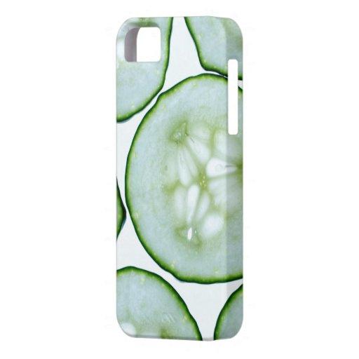 Confianza - refresqúese como rebanadas del pepino iPhone 5 carcasas