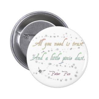 Confianza y botón redondo del polvo del duendecill pin