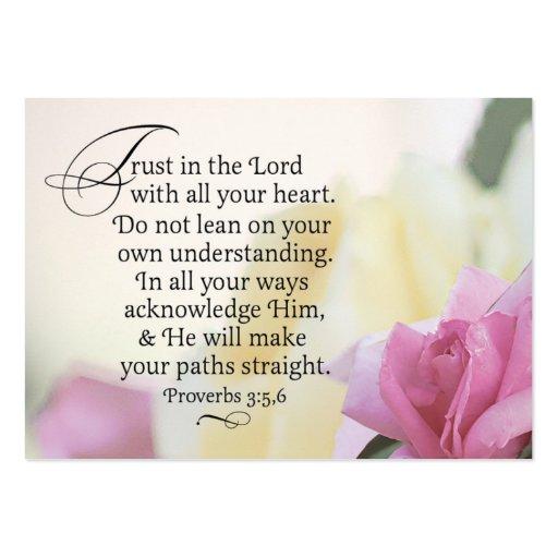 Confianza y misericordia rechonchas tarjeta de visita