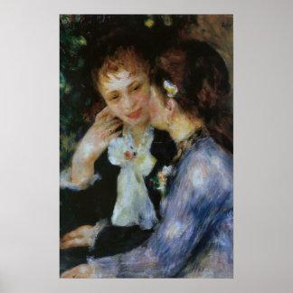 Confianzas, Pierre-Auguste Renoir Poster