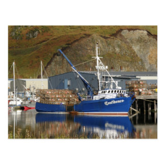 Confidence at the Galaxy Dock Dutch Harbor AK Post Card