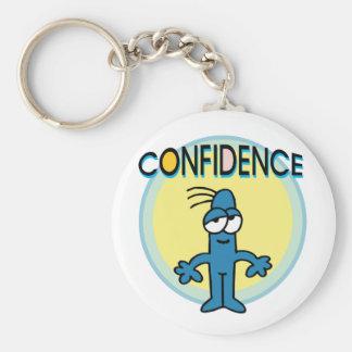 Confidence Basic Round Button Keychain