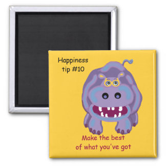 confidence comes from accepting yourself 2 inch square magnet