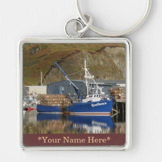 Confidence, Crab Boat in Dutch Harbor, Alaska Keychain