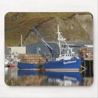 Confidence, Crab Boat in Dutch Harbor, Alaska Mouse Pad
