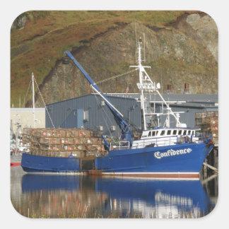 Confidence, Crab Boat in Dutch Harbor, Alaska Square Sticker