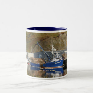 Confidence, Crab Boat in Dutch Harbor, Alaska Two-Tone Coffee Mug
