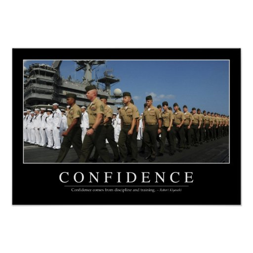 Confidence Quotes Sales: Confidence: Inspirational Quote Poster