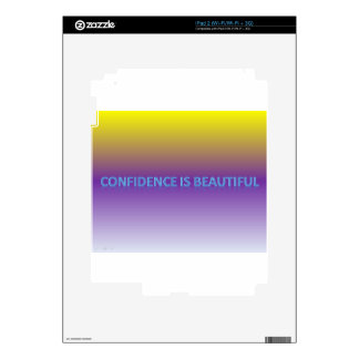 confidence is beautiful skin for the iPad 2