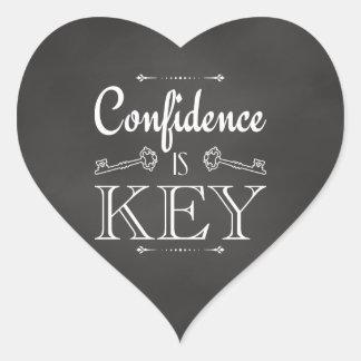 Confidence Is Key Heart Sticker