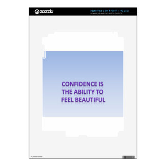 confidence is the ability to feel beautiful decals for iPad 3