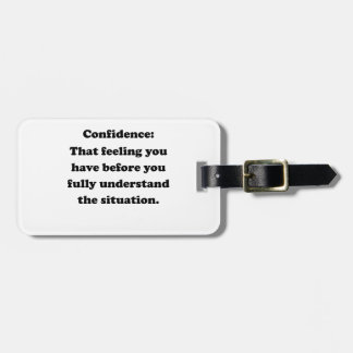 Confidence Tag For Bags