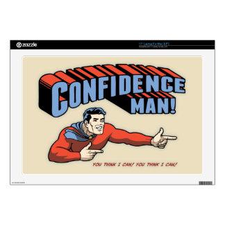 "Confidence Man! 17"" Laptop Decal"