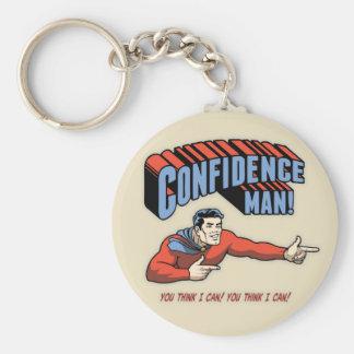 Confidence Man! Basic Round Button Keychain