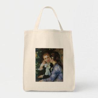 Confidences, Pierre-Auguste Renoir Grocery Tote Bag