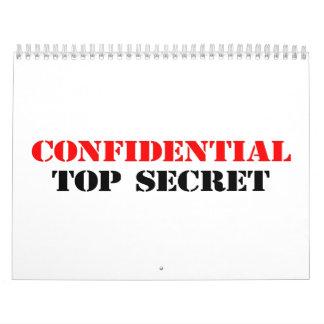 Confidencial Calendario De Pared