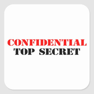 Confidencial Calcomanía Cuadradas Personalizada