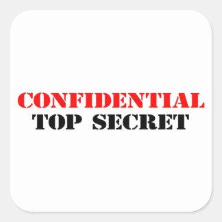 Confidencial Pegatina Cuadrada